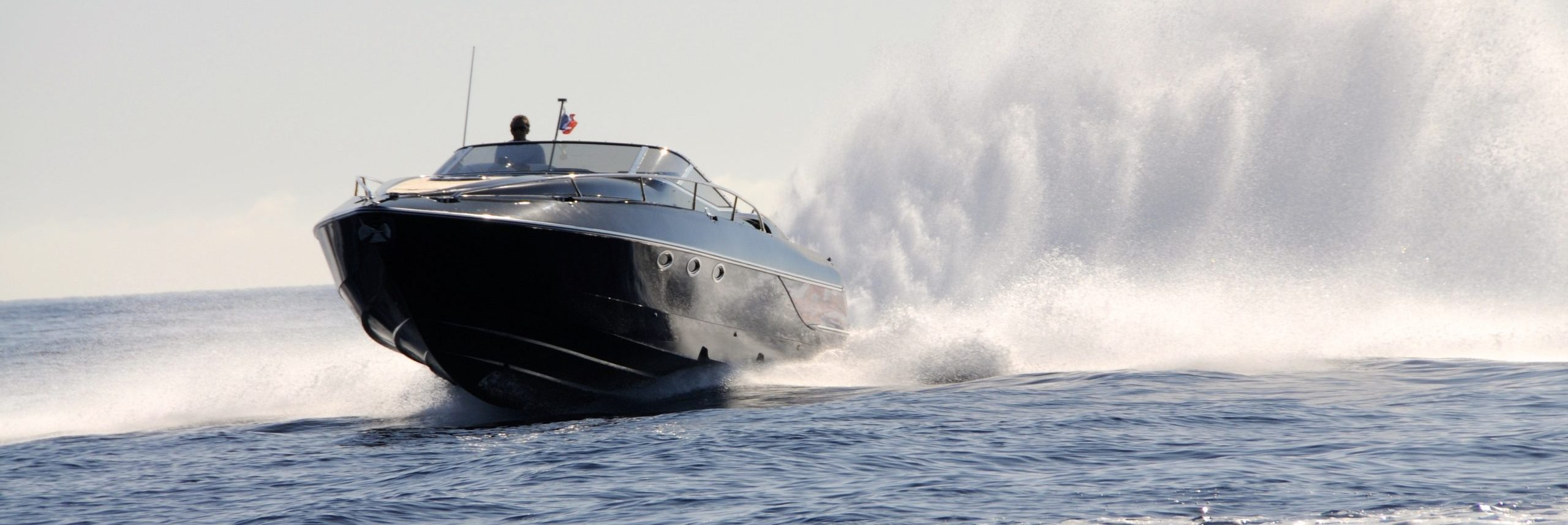 Hunton Powerboat running in open water